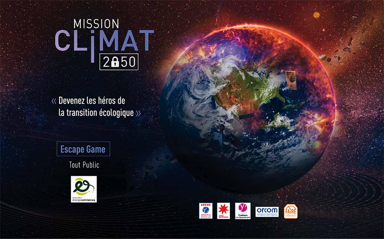 Mission climat 2050 : un escape game pour la lutte contre les dérèglements climatiques et la précarité