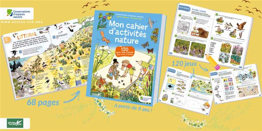 Découvre la nature de façon ludique et innovante avec le cahier d'activités nature.